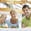 Family Having Lunch Together At The Mall — Stock Photo