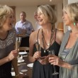 Friends Enjoying A Glass Of Champagne At A Dinner Party — Stock Photo #4789009