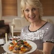 Woman With Hors D'oeuvres For A Dinner Party — Stock Photo #4789019