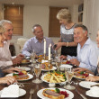 Friends At A Dinner Party — Stock Photo