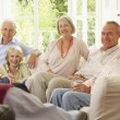 Friends Socializing At Home — Stock Photo