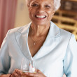 Woman Having A Glass Of Wine At A Bar — Stock Photo #4789094