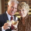 Couple Enjoying A Drink At A Bar Together — Stock Photo