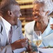 Senior Couple Having Dinner Together At A Restaurant — Stock Photo #4789131