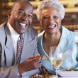 Senior Couple Having Dinner Together At A Restaurant — Stock Photo #4789133