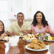 Family Having A Meal Together At Home — Stock Photo #4789160