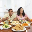 Family Having A Meal Together At Home — Stock Photo #4789162