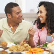 Couple Having Lunch Together At Home — Stock Photo