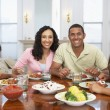 Family Having A Meal Together At Home — Stock Photo