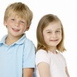 Brother And Sister Smiling — Stock Photo