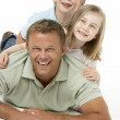 Father And Children Happy Together — Stock Photo