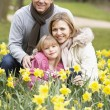 Family Group In Daffodils — Stock Photo #4789511