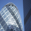 Glass Exterior Of Swiss Re Tower, London, England - Foto de Stock