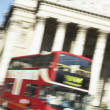 Bus Driving Past Royal Exchange - Foto de Stock