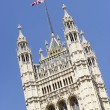 Flag Flying From Westminster Abbey, London, England - Zdjęcie stockowe