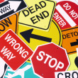 Group Of Road Signs — Stock Photo