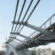 Millennium Footbridge, London, England - Stock Photo