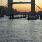 Tower Bridge At Sunset, London, England — Stock Photo
