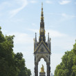 Tourists In Front Of Albert Memorial, London, England — Stock Photo