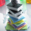 Stock Photo: Stack Of Colorful Sponges