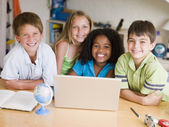 Group Of Young Children Doing Their Homework — Stock Photo