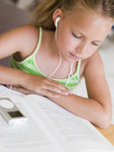 Schoolgirl Studying — Stock Photo