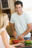 Husband And Wife Preparing Dinner — Stock Photo