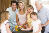 Family Preparing meal,mealtime Together — Stock Photo