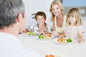 Family Eating A meal — Stock Photo