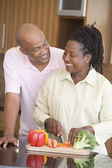 Husband And Wife Preparing A meal,mealtime Together — Stock Photo
