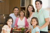 Family Preparing meal — Stock Photo
