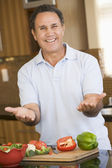 Man Preparing meal,mealtime — Stock Photo