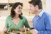 Couple Enjoying meal,mealtime Together — Stock Photo