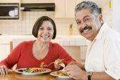 Elderly Couple Enjoying meal,mealtime Together — Stock Photo