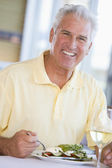 Man Enjoying Salad — Stock Photo