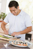 Man Preparing Sushi — Stock Photo