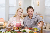 Couple Eating meal,mealtime Together — Stock Photo