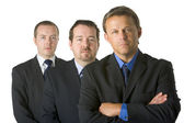 Group Of Businessmen Looking Stern — Stock Photo