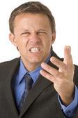 Businessman Very Angry — Zdjęcie stockowe