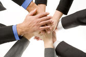 Businesspeople Hands In Together — Stock Photo