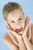 Young girl excited and happy — Stock Photo