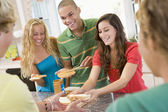 Teenagers Making Sandwiches — Stock Photo