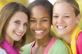 Portrait Of A Group Of Teenage Girls — Stock Photo