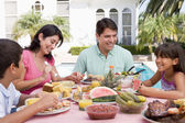 Family Enjoying A Barbeque — Stock Photo