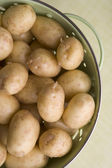 New Potatoes In Colander — Stock Photo