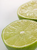 Halved Fresh Lime — Stock Photo