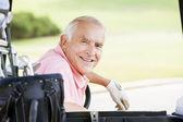 Portret van een mannelijke golfer — Stockfoto