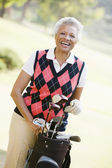 Portrait Of A Female Golfer — Foto Stock