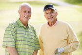 Man, Woman, Couple, Golf, Golf Course, Smiling, Senior Adult, Go — Stock Photo