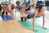 Instructor Taking Exercise Class At Gym — Stock Photo